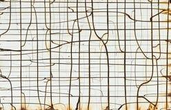 生锈的白合金横幅 免版税图库摄影