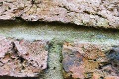 生锈的砖细节表面 图库摄影