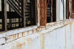 生锈的窗架细节  免版税图库摄影