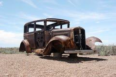 生锈的经典美国汽车 免版税库存图片