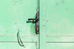 生锈的绿色金属 图库摄影