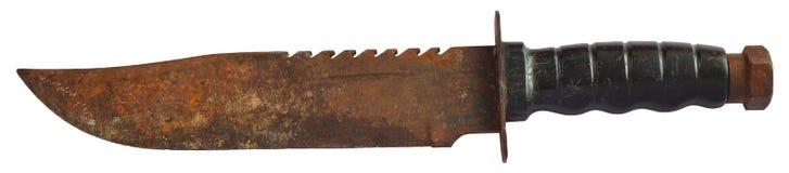生锈的老刀子 库存图片