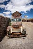 生锈的老卡车, Uyuni,玻利维亚 免版税库存图片