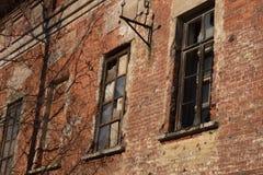 生锈的老墙壁背景 免版税库存照片