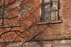 生锈的老墙壁背景 免版税库存图片