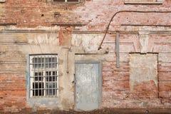 生锈的老墙壁背景 免版税图库摄影