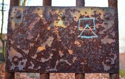 生锈的老标志 库存图片
