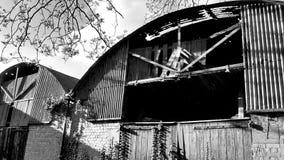 生锈的老谷仓 库存图片