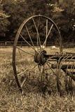 生锈的耕犁 图库摄影