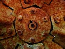 生锈的背景机械 库存照片