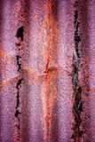 生锈的腐朽的金属 库存照片