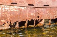 生锈的船身 图库摄影