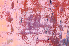 生锈的葡萄酒橙色桃红色金属铁背景 库存图片