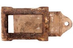 生锈的葡萄酒火炉制音器 免版税库存照片