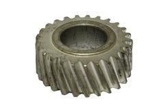 生锈的螺线齿轮 免版税库存图片