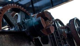 生锈的被佩带的机械嵌齿轮齿轮 库存照片
