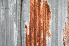 生锈的被镀锌的钢背景 免版税库存图片