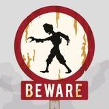 生锈的警告蛇神标志,传染媒介例证 免版税图库摄影