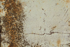 生锈的车库门或铁板料 免版税库存图片