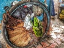 生锈的轮子 库存照片