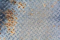 生锈的金刚石钢板 免版税库存照片
