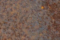 生锈的金属板背景纹理 browne 免版税库存图片