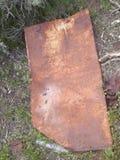 生锈的金属板自然 库存图片