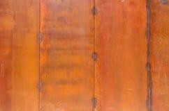 生锈的金属板细节 免版税库存图片