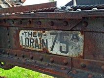 生锈的金属林业设备 库存照片