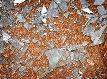 生锈的金属楼层有碎片背景 免版税库存照片