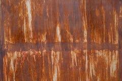 生锈的金属纹理和背景 免版税库存照片