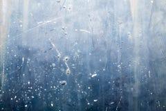 生锈的金属纹理有蓝色背景 免版税图库摄影