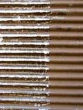 生锈的金属背景划分成两个部分 免版税库存照片