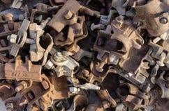 生锈的金属脚手架 库存图片