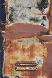 生锈的金属衣物柜气泵纹理 免版税库存图片