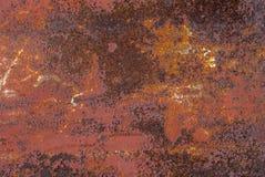 生锈的金属表面纹理背景 免版税库存图片