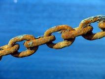 生锈的金属链子 免版税库存图片