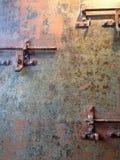 生锈的金属锁 免版税库存照片