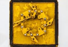 生锈的金属锁 库存图片