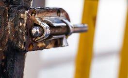 生锈的金属锁 库存照片