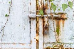生锈的金属门 免版税库存照片