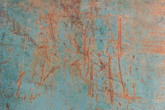 生锈的金属难看的东西背景和抓痕 免版税库存图片