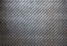 生锈的金属鱼鳞铠甲背景3d例证 库存图片