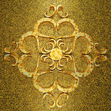 生锈的金黄金属3d装饰品 免版税库存图片