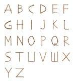 生锈的钉子字体 免版税库存图片