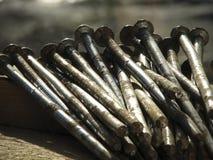 生锈的钉子 免版税库存照片