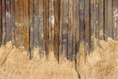 生锈的钢墙壁 免版税库存照片