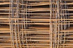 生锈的钢框架。 免版税库存图片