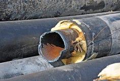 生锈的钢管 免版税库存照片