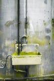 生锈的钢自来水 库存图片